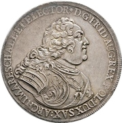 2 Thaler - Friedrich August II. – obverse