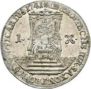 1 Groschen - Friedrich August II. (Vicariat) – reverse