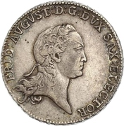 ⅔ Thaler - Friedrich August III – obverse