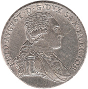 ⅔ Thaler - Friedrich August I/III – obverse