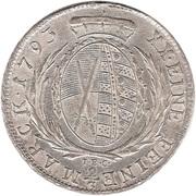 ⅔ Thaler - Friedrich August I/III – reverse