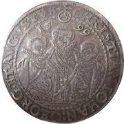 1 Thaler - Christian II, Johann-Georg and Augustus - Three Brothers Thaler – obverse