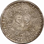 1 Thaler - Christian II, Johann Georg I, & August – reverse