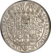 1 Thaler - Johann Georg I – reverse