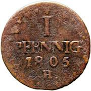 1 Pfennig - Friedrich August III. – reverse