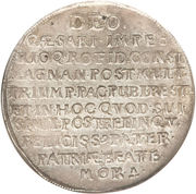 1 Thaler - Johann Georg I (Death of Johann Georg I) – reverse