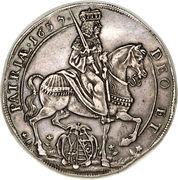 1 Thaler - Johann Georg II (Death of Emperor Ferdinand III) – obverse