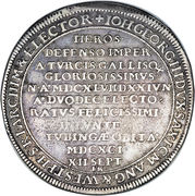 1 Thaler - Johann Georg III (Death) – reverse