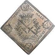 1 Thaler - Johann Georg IV (Order of the Garter) – reverse