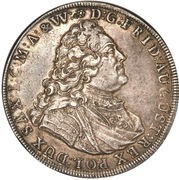 1 Thaler - Friedrich August II – obverse