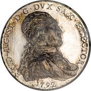 1 Conventionsthaler - Friedrich August III. – obverse