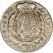 1 Conventionsthaler - Friedrich August III. – reverse