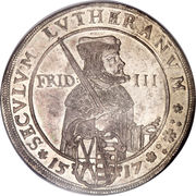 2 Thaler - Johann Georg I (Protestant Reformation) – reverse