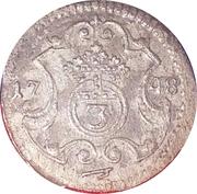 3 Pfennig - Friedrich August II -  reverse