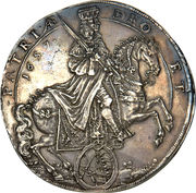 2 Thaler - Johann Georg II (Death of Emperor Ferdinand III) – obverse