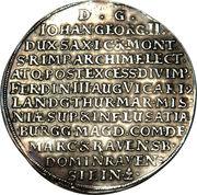 2 Thaler - Johann Georg II. (Death) – reverse