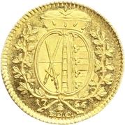 1 Ducat - Friedrich August III – reverse