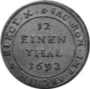 1/12 Thaler - Johann Georg IV. – reverse