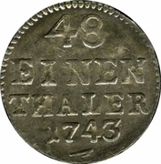 1/48 Thaler - Friedrich August II – reverse