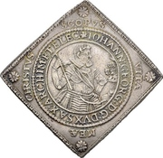 2 Thaler - Johann Georg I. and August (Klippe; Birth) – obverse