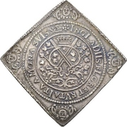 2 Thaler - Johann Georg I. and August (Klippe; Birth) – reverse
