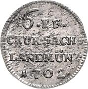 6 Pfennige - Friedrich August I – reverse