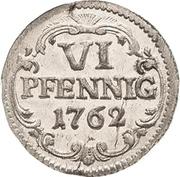 6 Pfennig - Friedrich August II – reverse