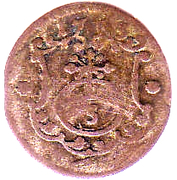 3 Pfennig - Friedrich August I – reverse