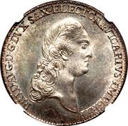 ⅔ Thaler - Friedrich August III. – obverse