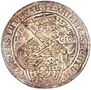 2 Thaler - Johann Georg I (Augsburg Confession) – obverse