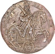 3 Thaler - Johann Georg II (Death of Emperor Ferdinand III) – obverse
