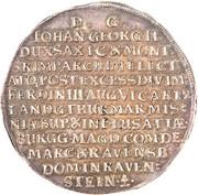 3 Thaler - Johann Georg II (Death of Emperor Ferdinand III) – reverse