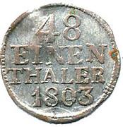 1/48 Thaler - Friedrich August III – reverse