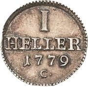 1 Heller - Friedrich August III. – reverse