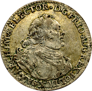 1 Groschen - Friedrich August II. – obverse