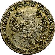 1 Groschen - Friedrich August II – reverse