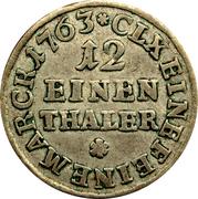 """1/12 Thaler - Friedrich Christian (""""Doppelgroschen"""") – reverse"""