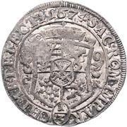 ⅓ Thaler - Johann Georg II – reverse