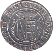1/24 Thaler - Johann Georg III. – obverse