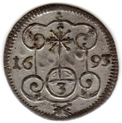 3 Pfennig - Johann Georg IV – reverse