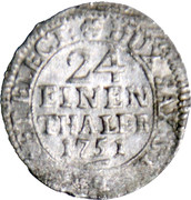 1/24 Thaler, 1 Groschen - Friedrich August II – reverse