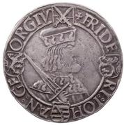 1 Guldengroschen ''Klappmützentaler'' - Friedrich III, Johann I and Georg – obverse