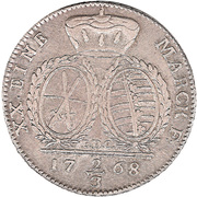 ⅔ Thaler - Friedrich August III. – reverse