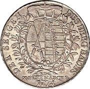 1 Thaler - Friedrich August III. – reverse