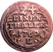 1/24 Thaler - Friedrich August II – reverse