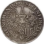 1 Guldengroschen - Georg the Bearded – reverse
