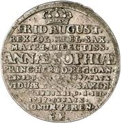 1 Groschen - Friedrich August I. (Death) – obverse