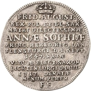 ⅙ Thaler - Friedrich August I. (Death) – obverse