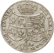 ⅙ Thaler - Friedrich August II. – reverse