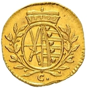 1 Pfennig - Friedrich August III (Gold pattern strike) – obverse